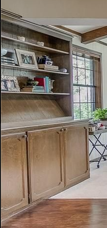 Beautiful Built-in Hutch Makeover with Matte Black Paint 1