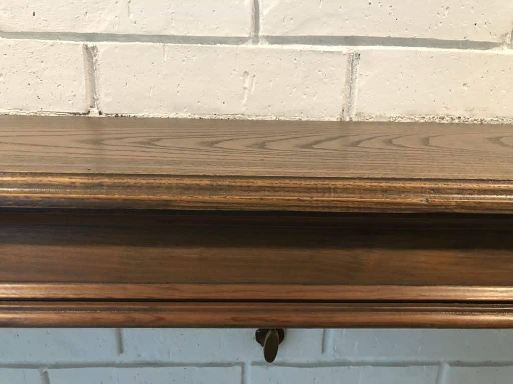 varathane stain on oak mantle