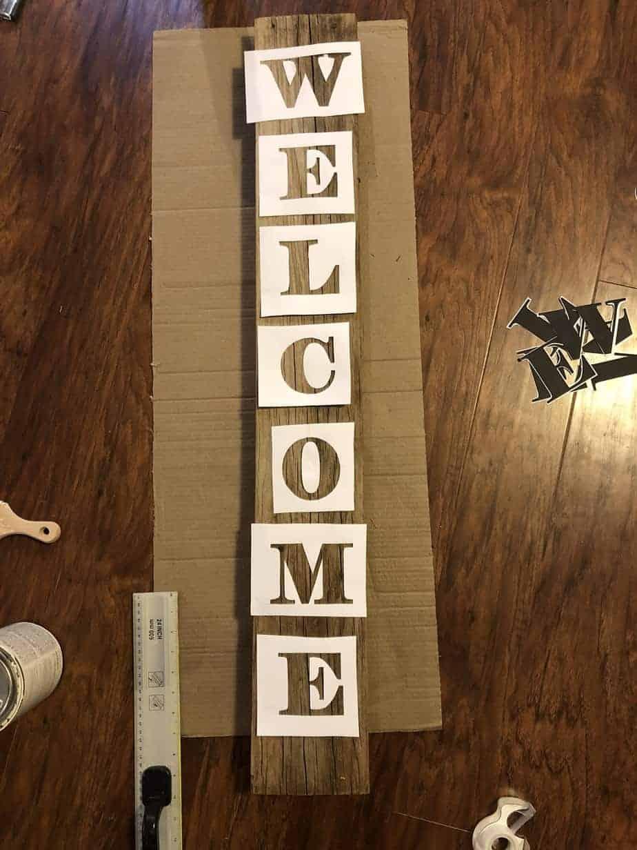 Easy DIY Stencil Wood Sign 5