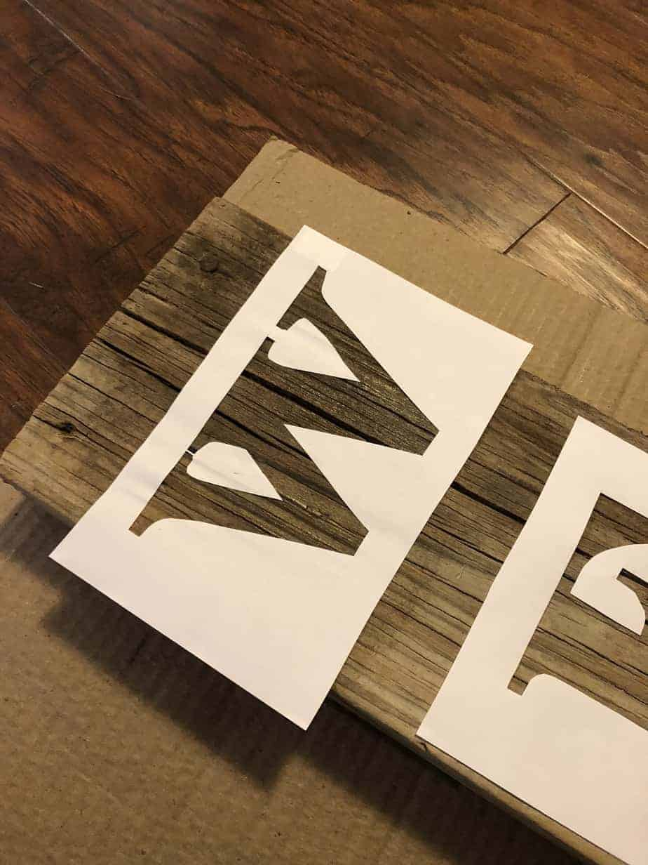 Easy DIY Stencil Wood Sign 6