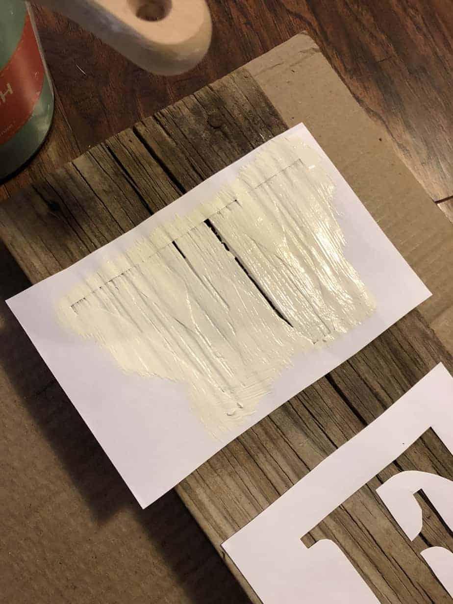 Easy DIY Stencil Wood Sign 9