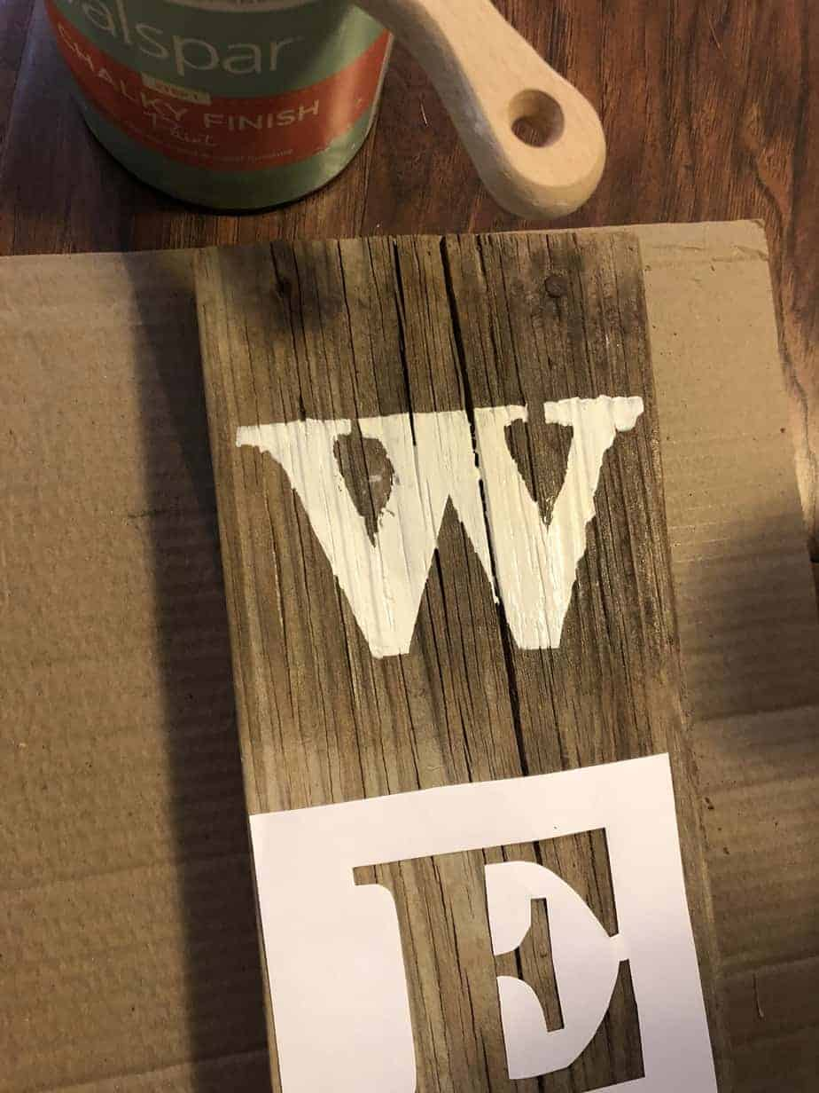 Easy DIY Stencil Wood Sign 11