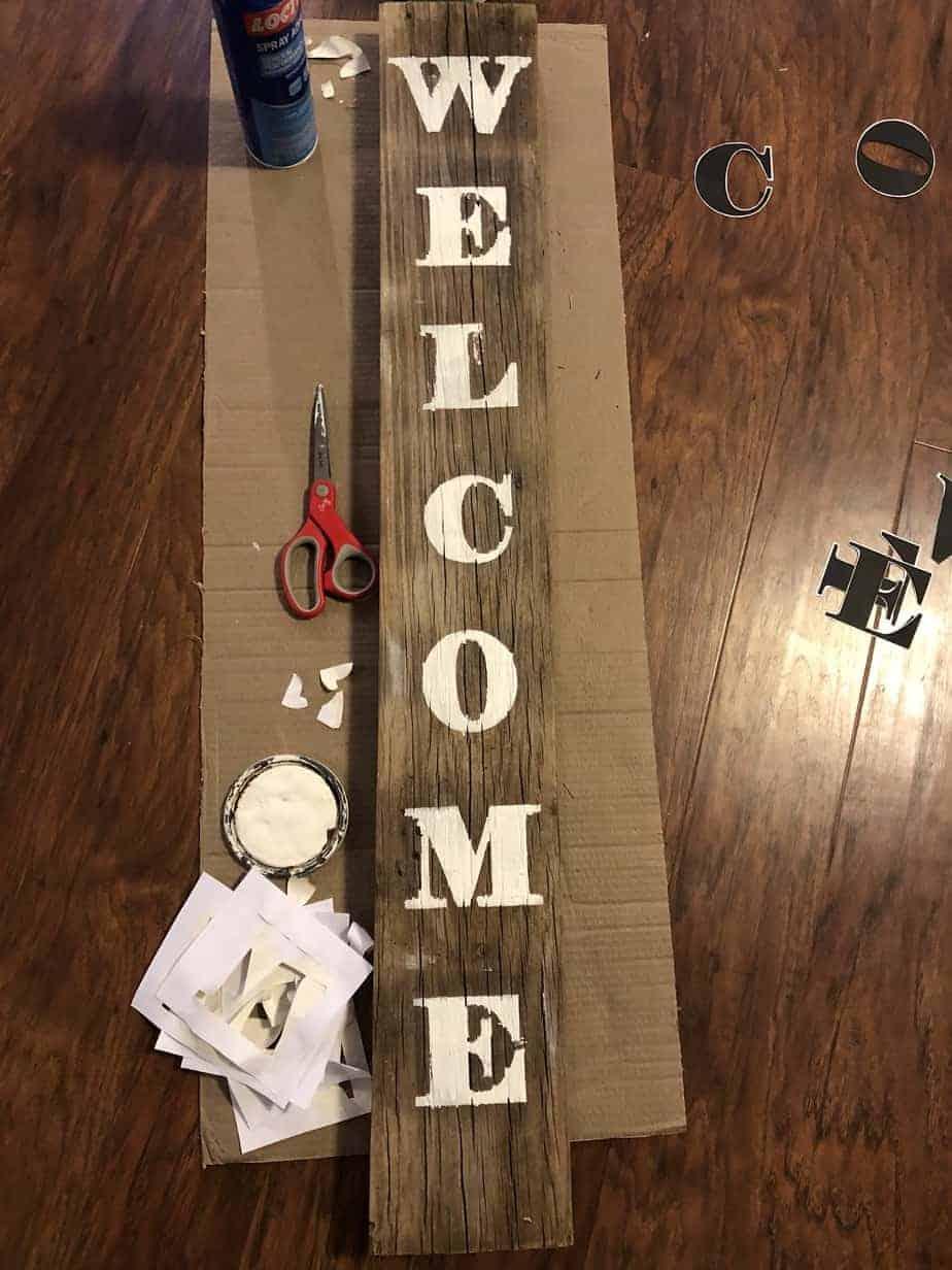 Easy DIY Stencil Wood Sign 12