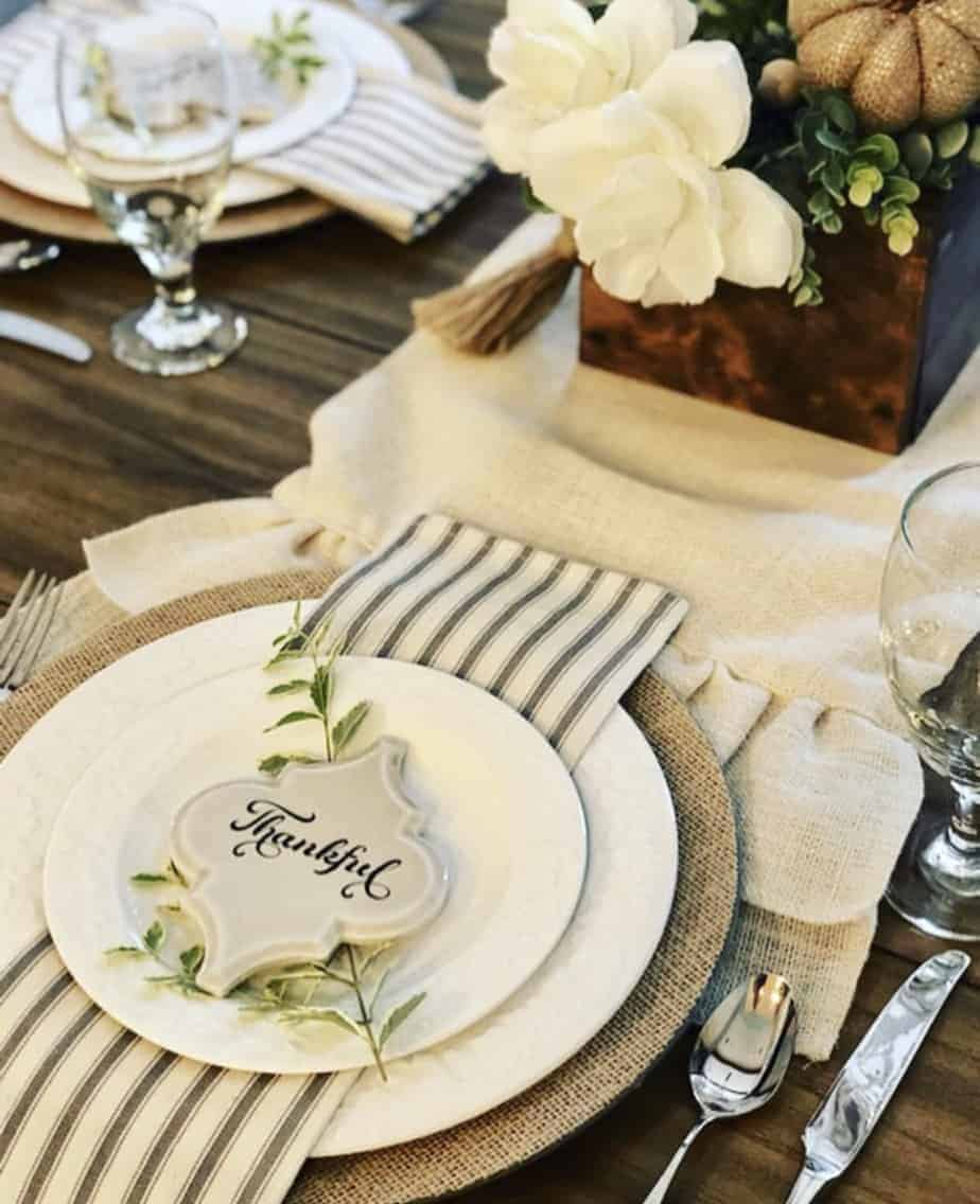 DIY Fall Place Setting Decor 1