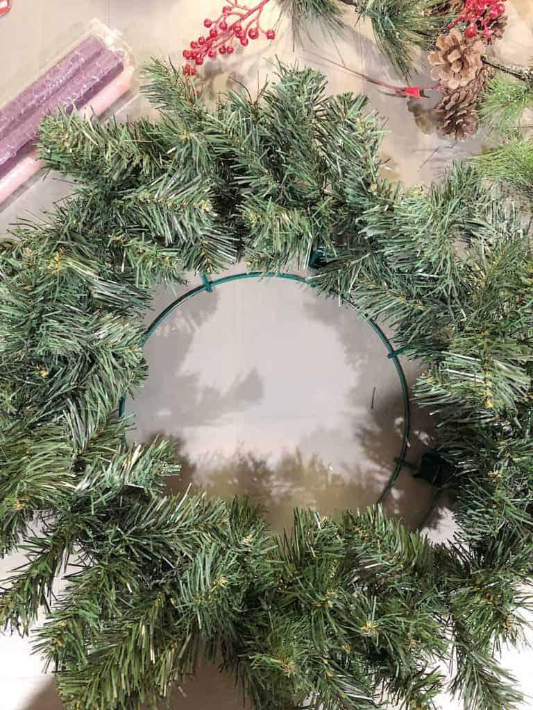 diy advent wreath garland