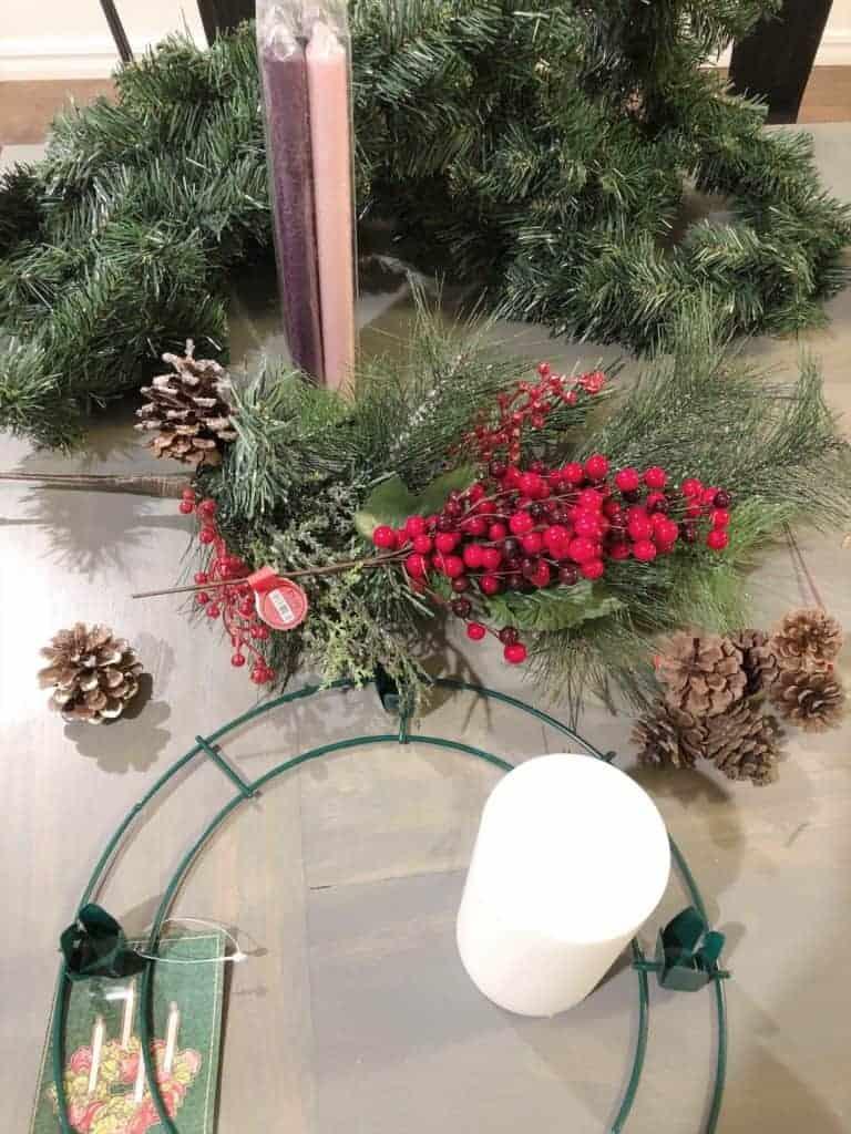 advent wreath supplies