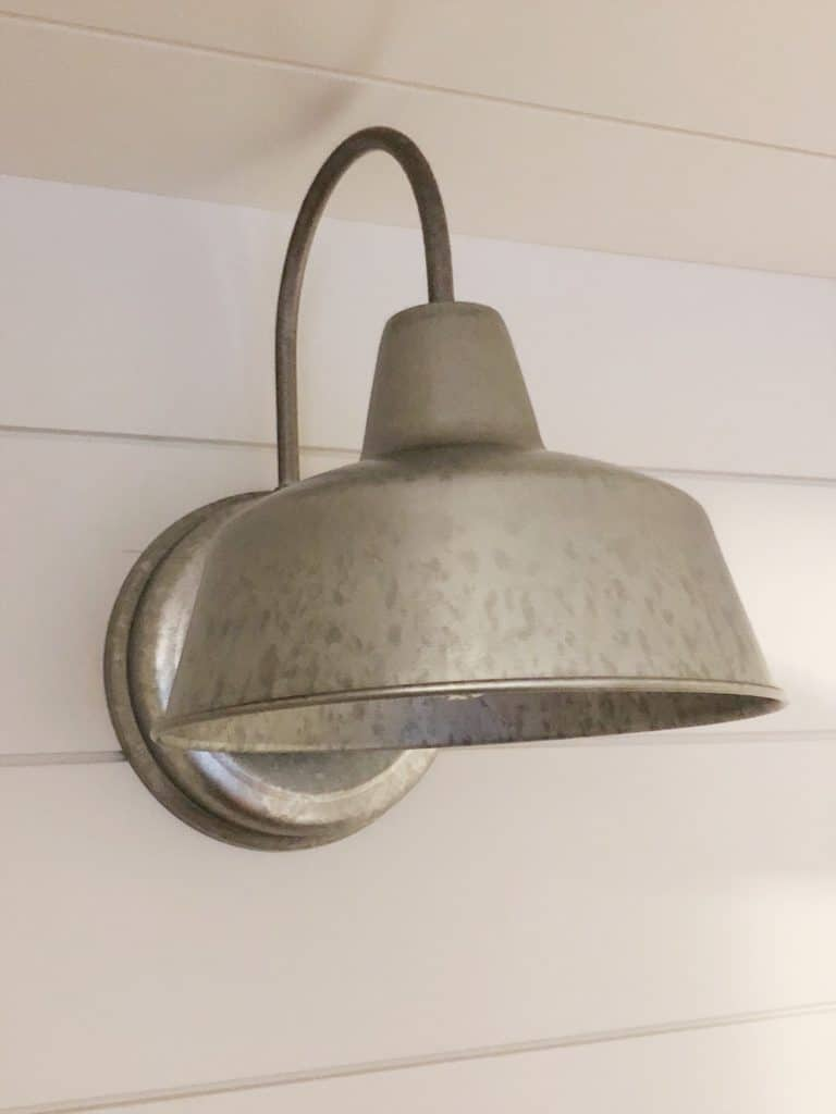 wet bar galvanized light