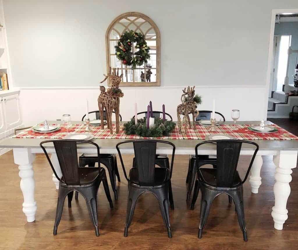 Christmas tablescape love