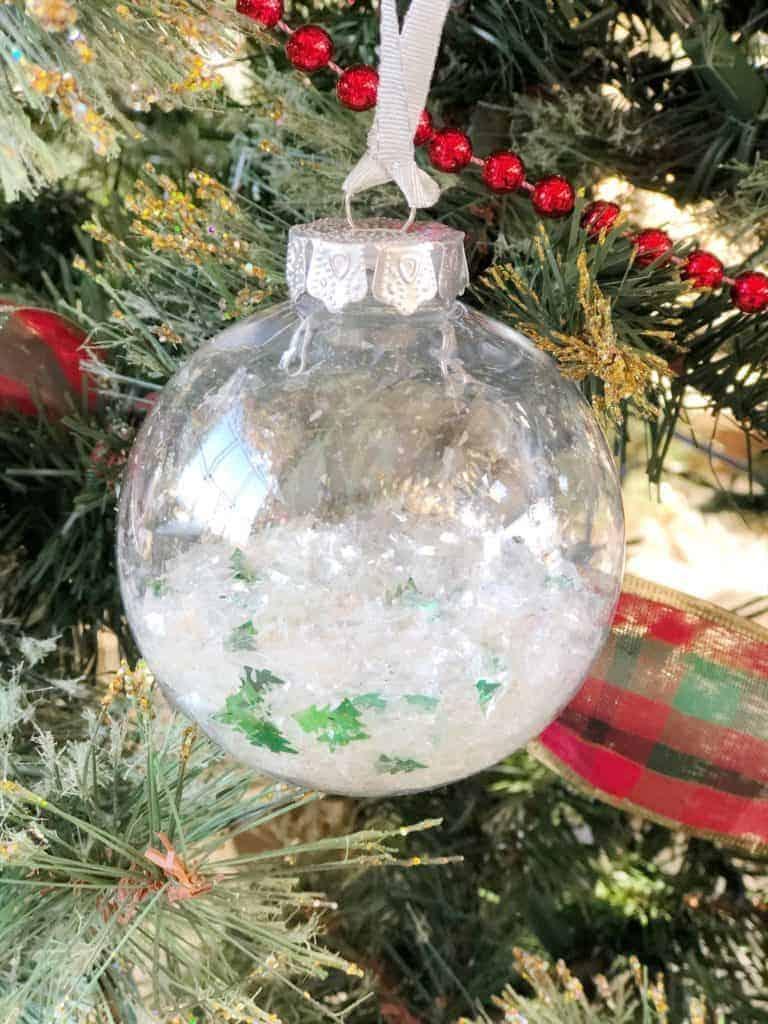 diy clear ball ornament