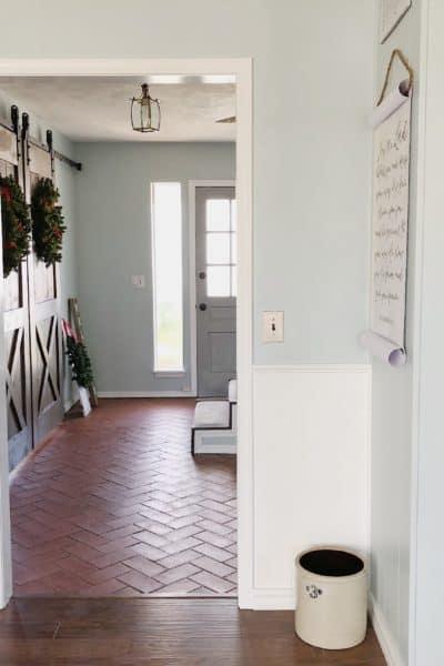 front door from dining room