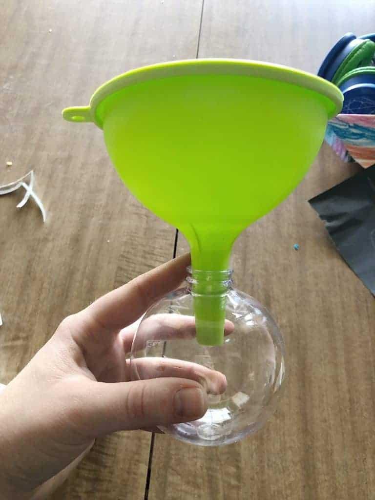 diy ornaments using funnel