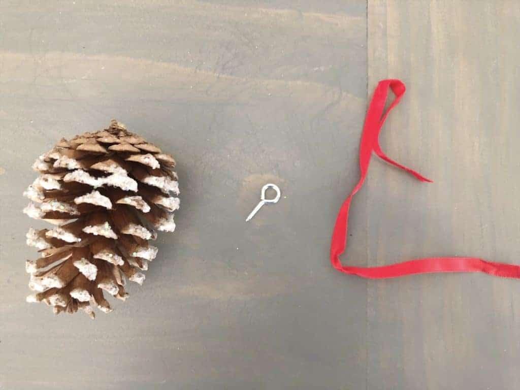diy pinecone ornaments supplies