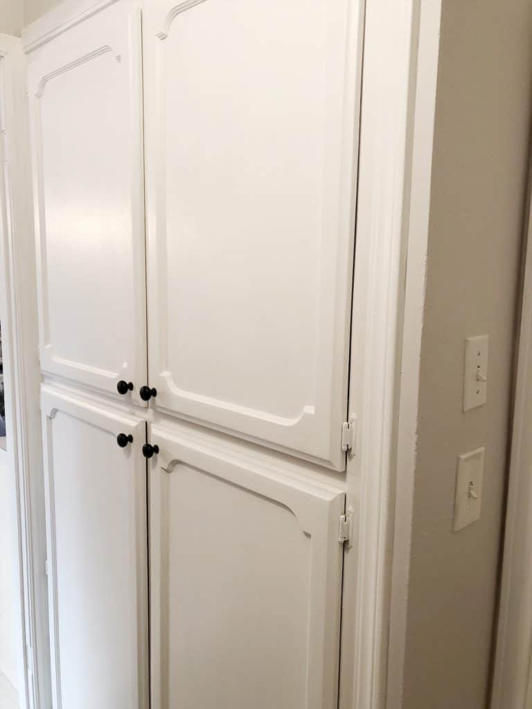 freshly painted pantry doors