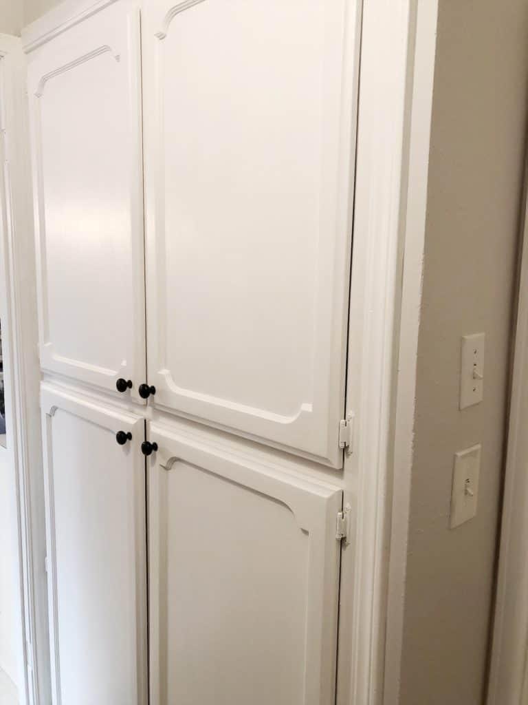 freshly painted pantry doors