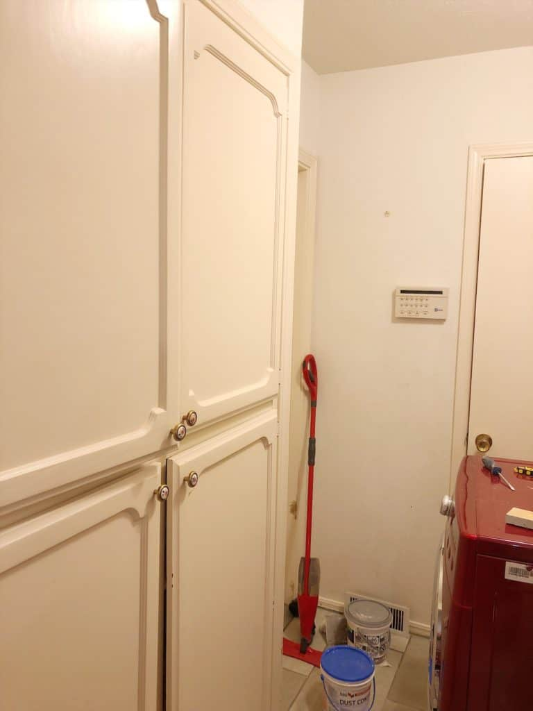 laundry room pantry before