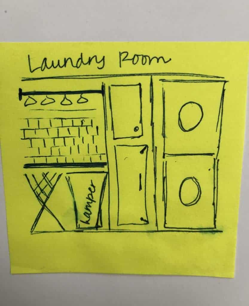 laundry room blue print