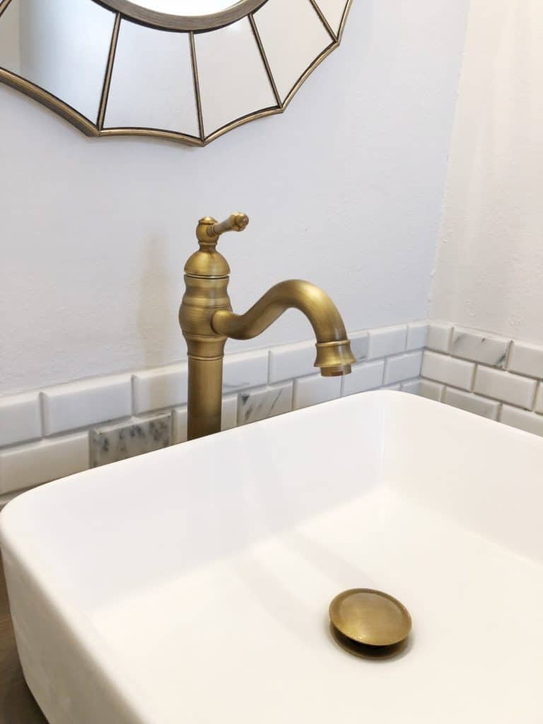 guest bathroom faucet and sink