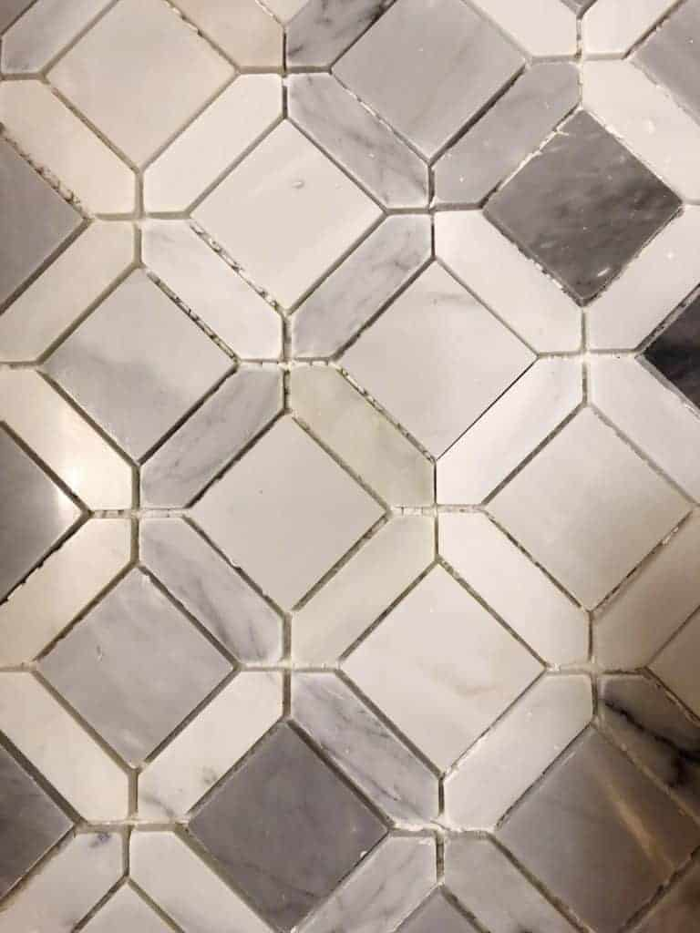 tile before grout