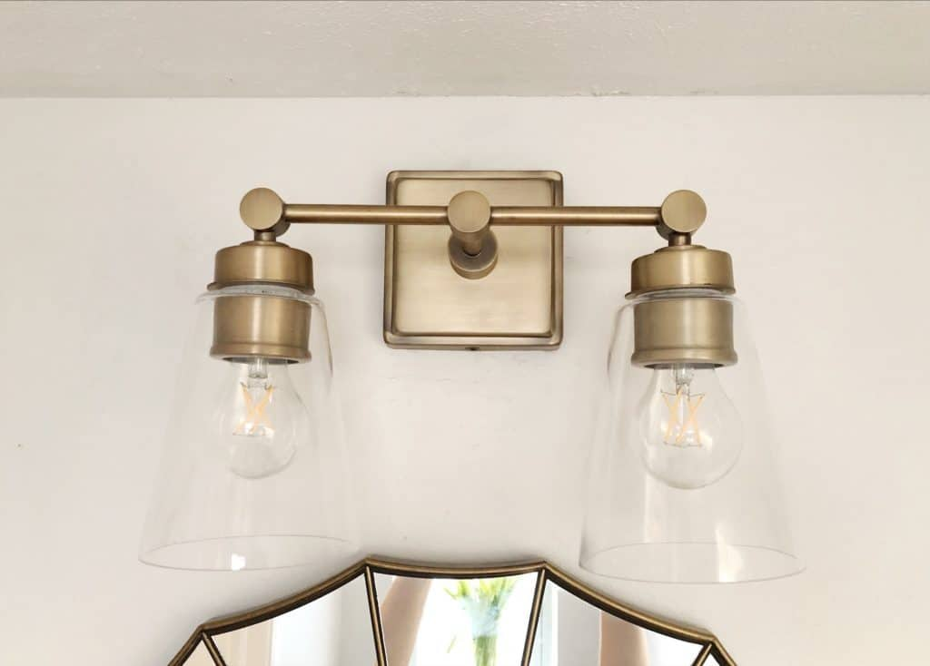 antique bronze vanity light