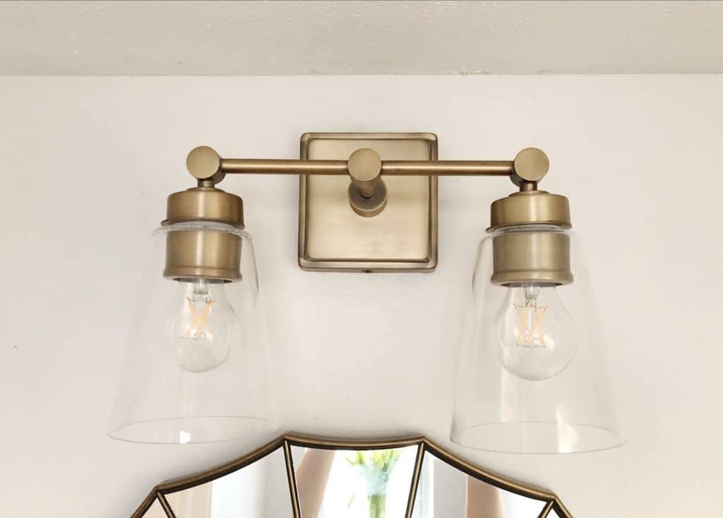 antique bronze vanity light