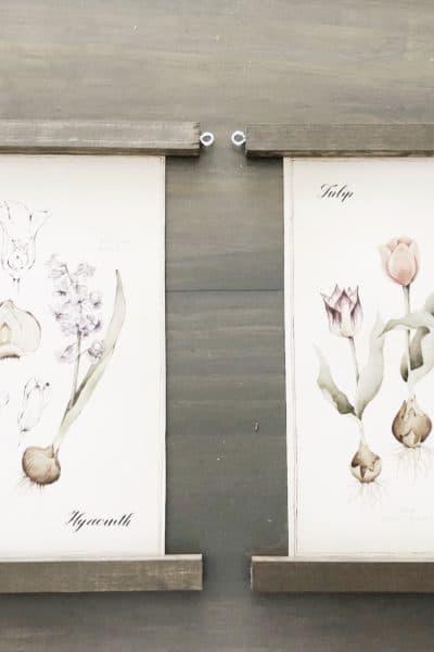 spring hanging print