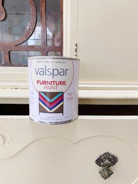 valspar furniture paint on hutch