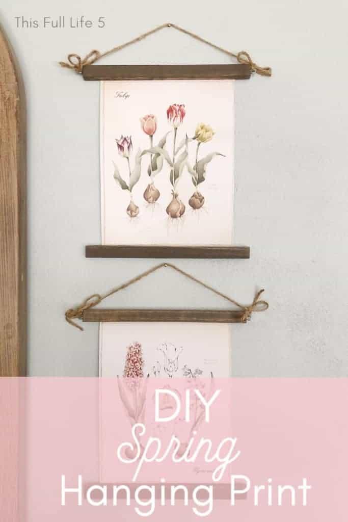 DIY Spring Hanging Print