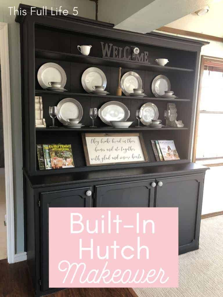 Built-In Hutch Makeover