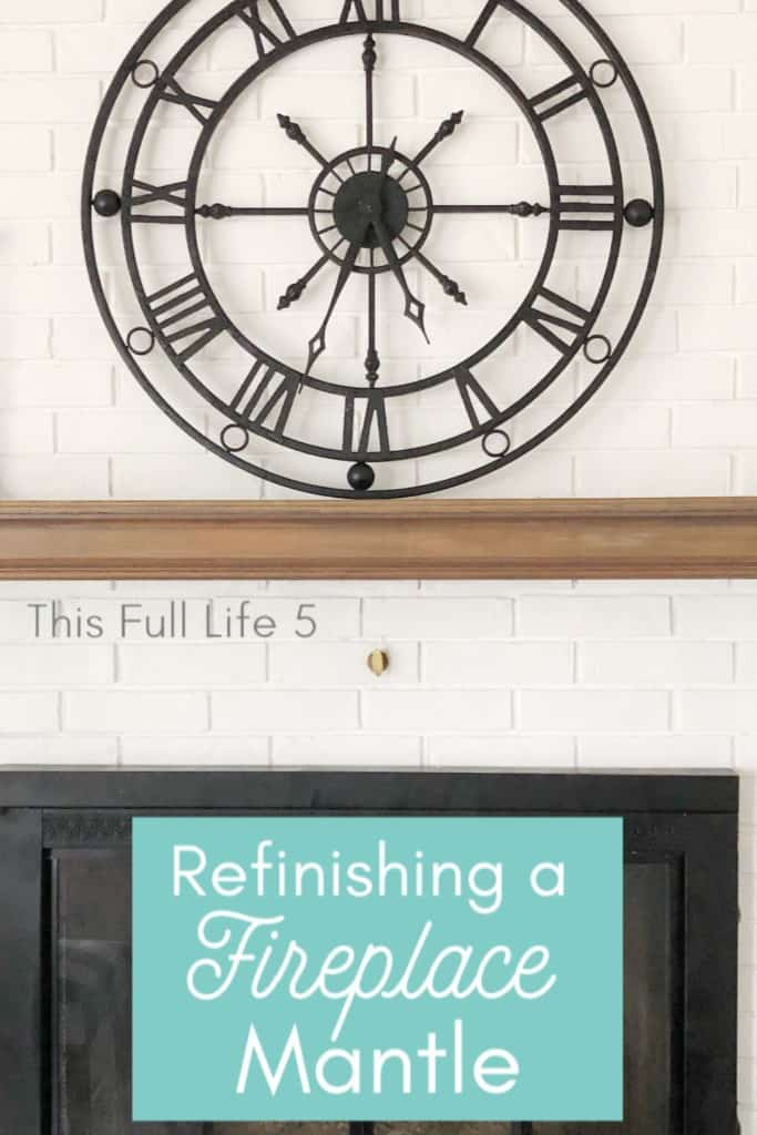 How to Refinish a Fireplace Mantle