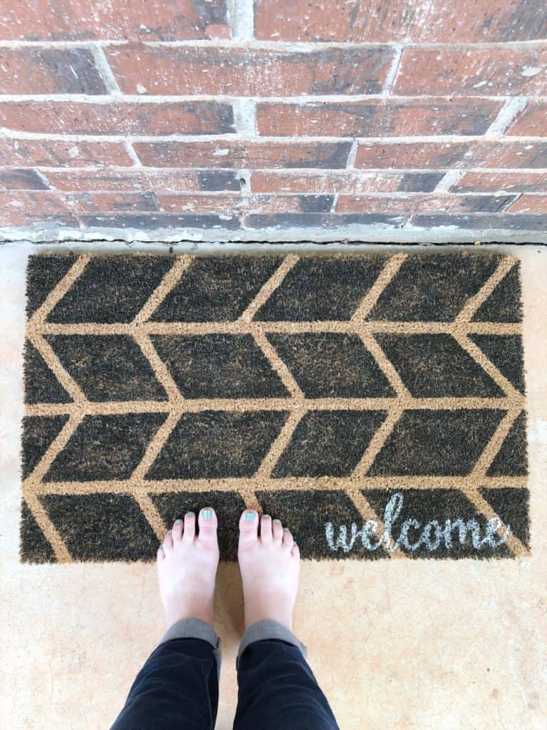 DIY welcome doormat