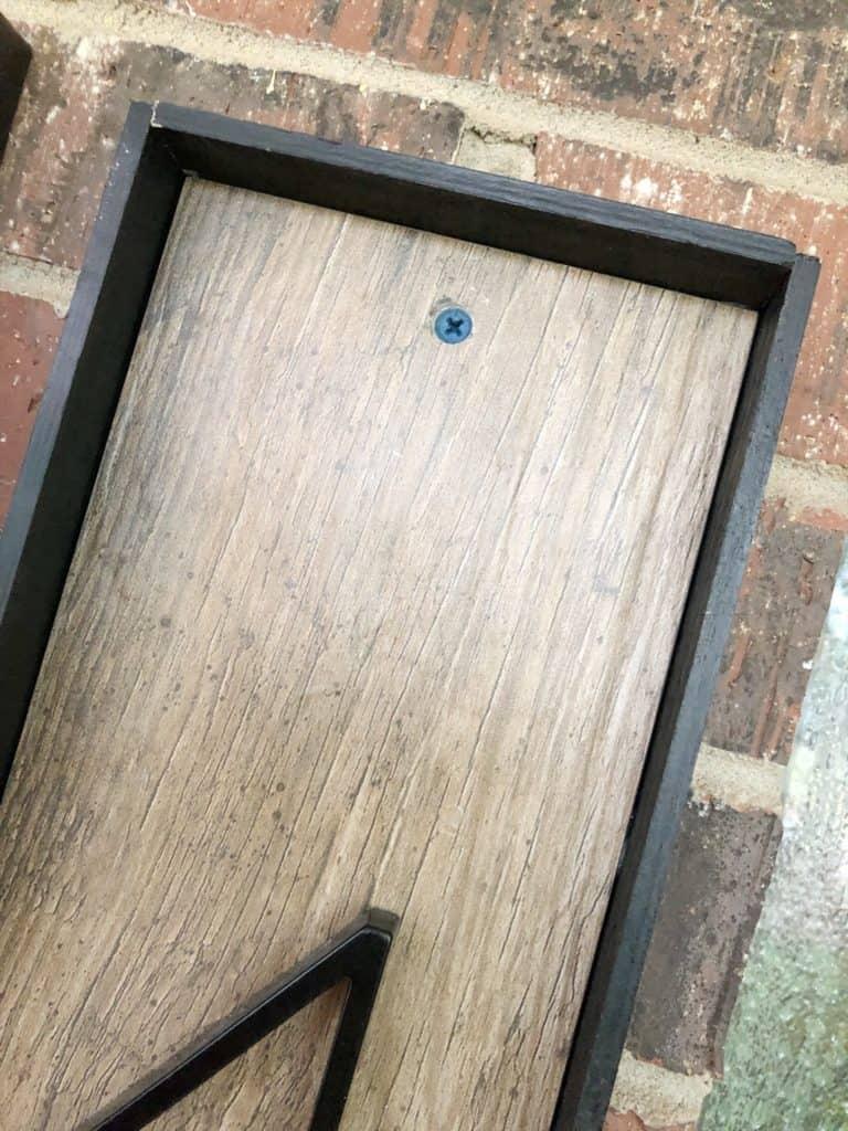 screw in tile address sign