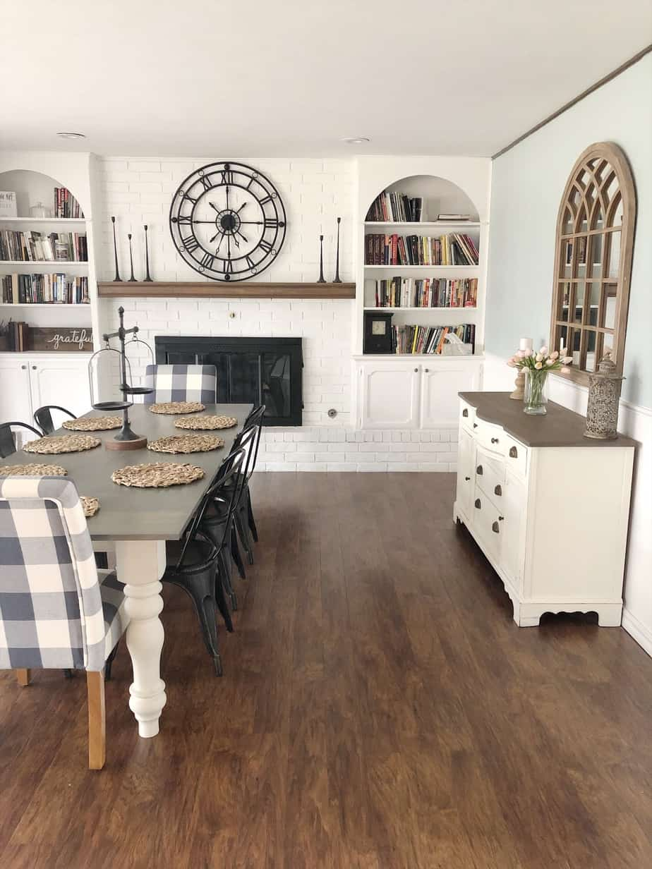 Beautiful Farmhouse Dining Room Makeover