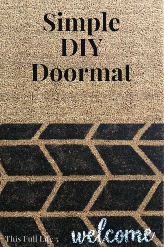 Simple DIY Doormat