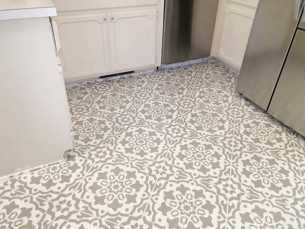 stenciled flooring