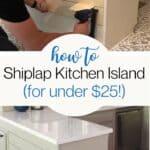 shiplap kitchen island