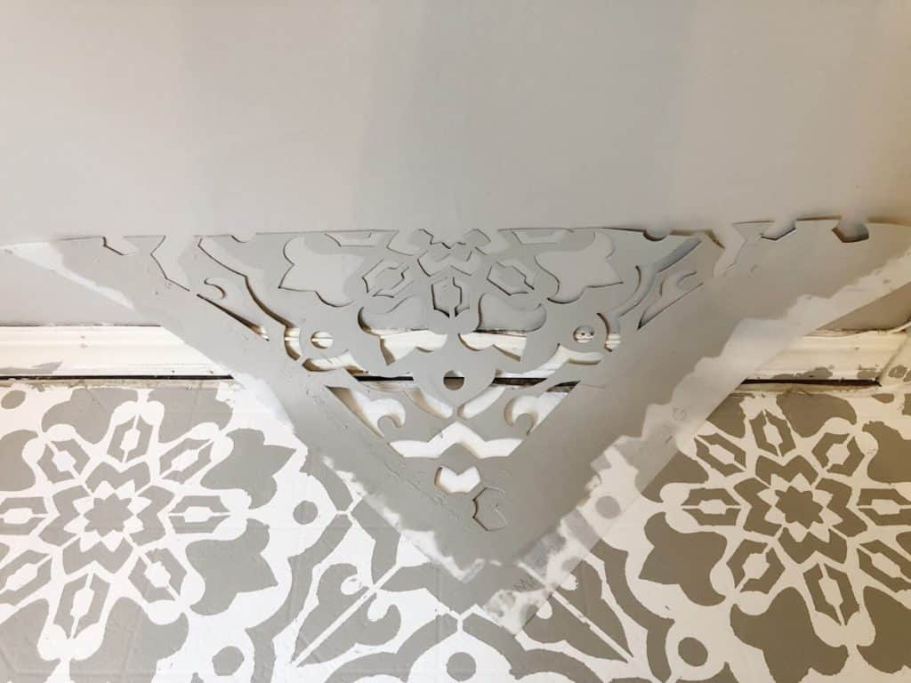 stencil cut in half