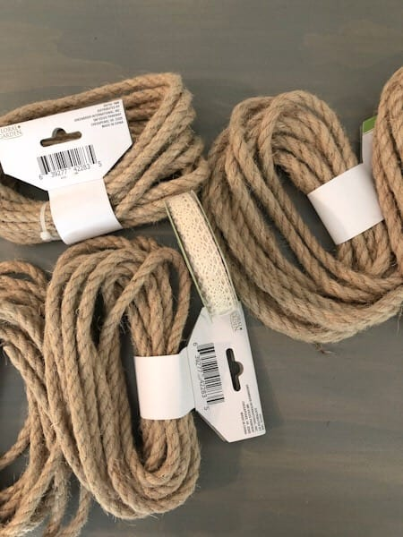 rope and trim for diy basket