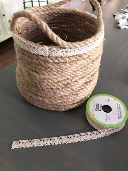 ribbon trim for basket