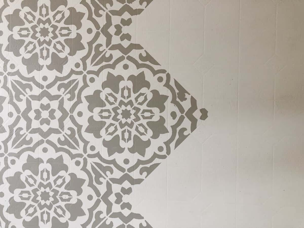 How to Stencil Over Linoleum Floors + YouTube Launch