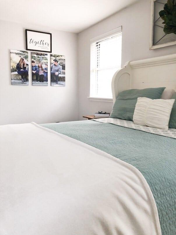 Ebenezer Market sign in master bedroom