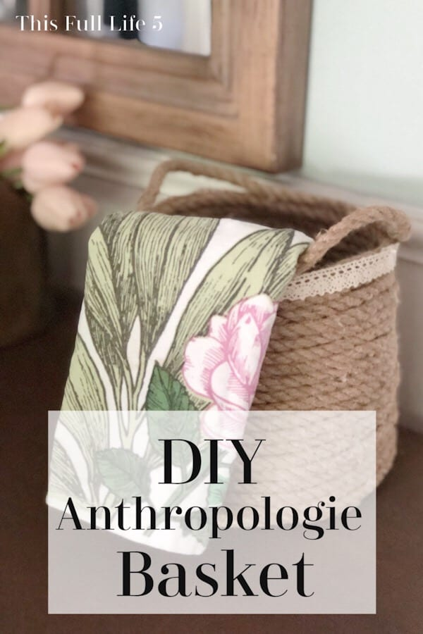 DIY Anthropologie Basket