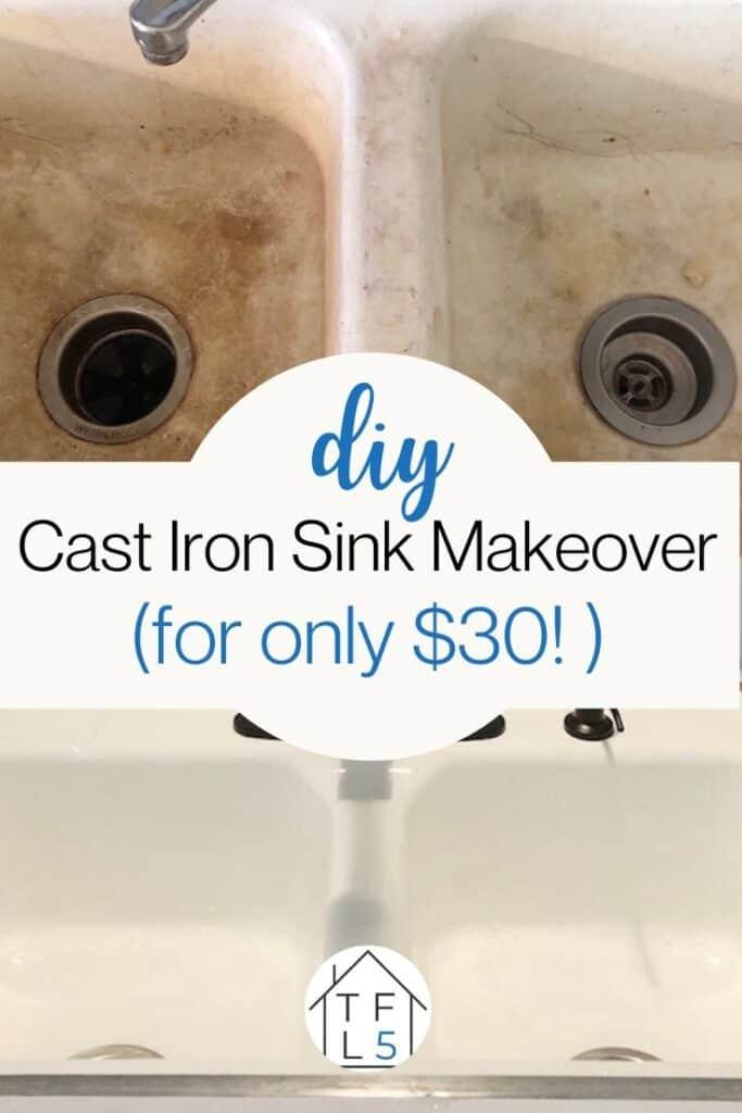 refinish cast iron sink