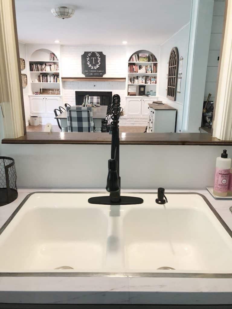 resurfaced kitchen sink
