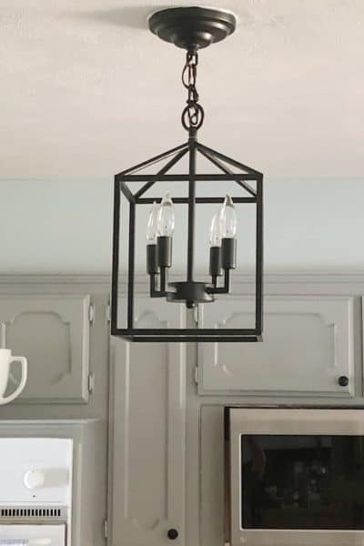 black kitchen pendant light