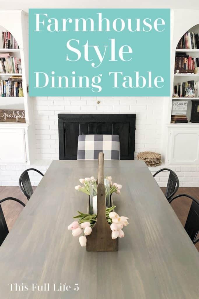 Farmhouse Style Dining Table