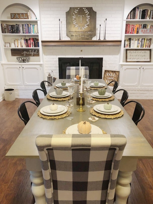 fall farmhouse table