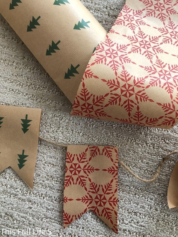 wrapping paper banner