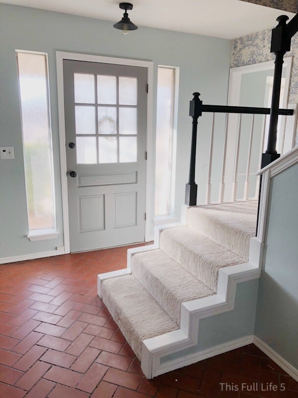 staircase and front door