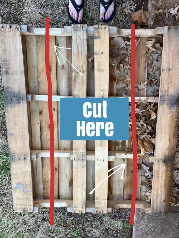 how to cut pallets