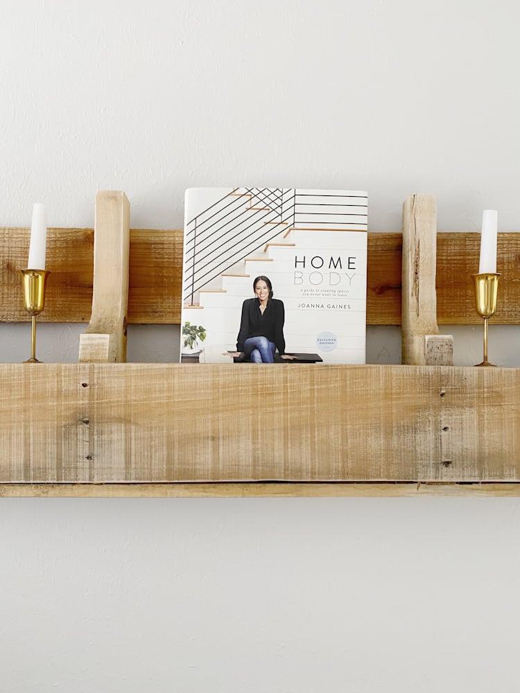 Joanna Gaines Homebody book on shelf